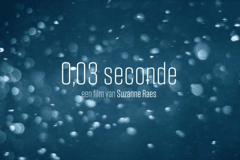 Zwemfilm 0,03 seconde op grote scherm bij World Cup